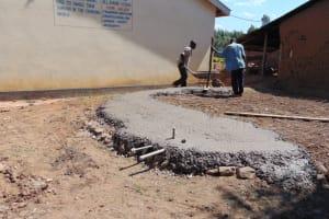 The Water Project: Namanja Secondary School -  Tank Foundation Construction