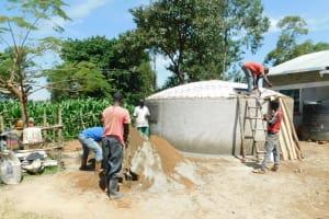 The Water Project: Ebutenje Primary School -  Tank Construction