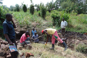 The Water Project: Musango Community, Emufutu Spring -  Spring Construction