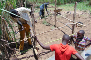 The Water Project: Burachu B Community, Namukhuvichi Spring -  Fencing The Protected Area