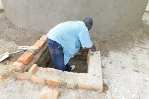 The Water Project: Namanja Secondary School -  Working On The Access Point