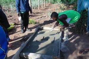 The Water Project: Burachu B Community, Namukhuvichi Spring -  Constructing The Sanitation Platform