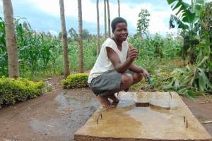 The Water Project: Burachu B Community, Namukhuvichi Spring -  Sanitation Platform