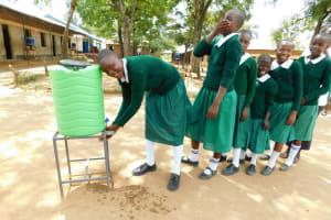 The Water Project: Ebutenje Primary School -  Handwashing Station
