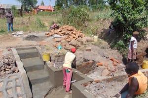 The Water Project: Musango Community, Emufutu Spring -  Construction