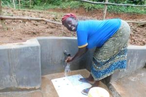 The Water Project: Wajumba Community, Wajumba Spring -  Flowing Water