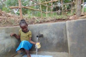 The Water Project: Burachu B Community, Namukhuvichi Spring -  Flowing Water