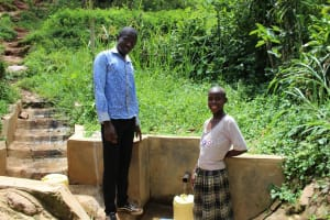 The Water Project: Itukhula Community, Lipala Spring -  Flowing Water