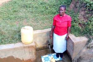 The Water Project: Ataku Community, Ataku Spring -  Esther Nyakowe