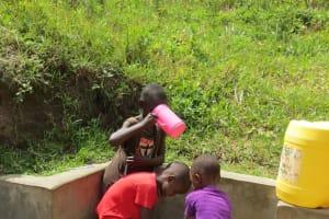 The Water Project: Futsi Fuvili Community, Simeon Shimaka Spring -  Drink Up