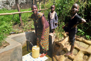 The Water Project: Ngeny Barak Community, Ngeny Barak Spring -  Fetching Water Quickly And Easily
