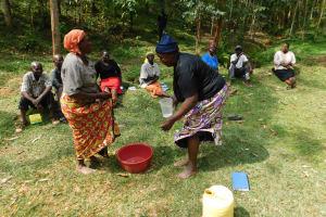 The Water Project: Wajumba Community, Wajumba Spring -  Handwashing Training