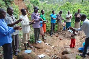 The Water Project: Eshiasuli Community, Eshiasuli Spring -  Handwashing Training