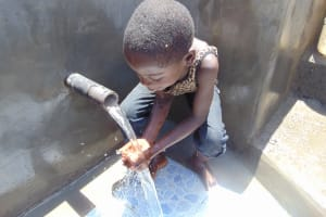 The Water Project: Musango Community, Emufutu Spring -  Flowing Water