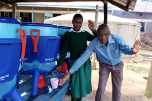 The Water Project: Esibeye Primary School -  Angela And Peter Use The Lifestraw