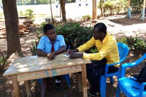The Water Project: Esibeye Secondary School -  Erick Interviews Rumona