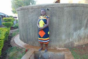 The Water Project: Imbale Secondary School -  Sanitation Teacher Mrs Mumford Isadia