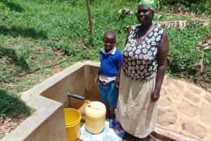 The Water Project: Ivulugulu Community, Ishangwela Spring -  Dora And Lewi