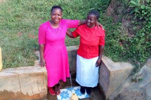 The Water Project: Ataku Community, Ataku Spring -  Betty And Esther