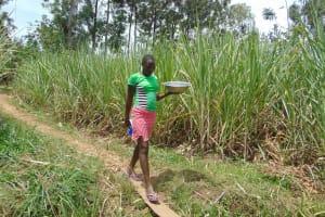 The Water Project: Burachu B Community, Namukhuvichi Spring -  Bringing Water To Training