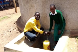 The Water Project: Esibeye Primary School -  Field Officer Erick And Angela
