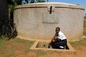 The Water Project: Shanjero Secondary School -  Chelsea Fetches Water