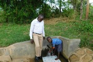 The Water Project: Shihingo Community, Mulambala Spring -  Jonathan And Justin