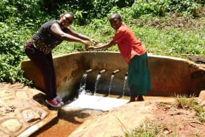 The Water Project: Shilakaya Community, Shanamwevo Spring -  Jacklyne And Befry