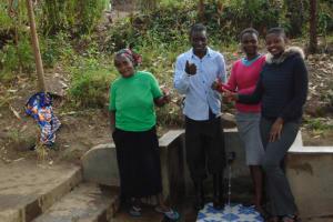 The Water Project: Shiyunzu Community, Imbukwa Spring -  Flowing Water