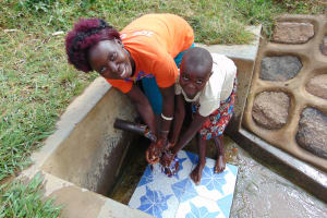 The Water Project: Musango Community, Ham Mwenje Spring -  Violet And Lucia