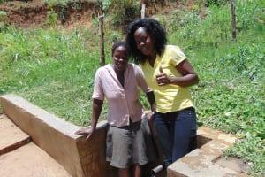 The Water Project: Elukuto Community, Isa Spring -  Sabina And Lillian