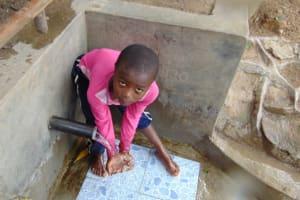 The Water Project: Eshiasuli Community, Eshiasuli Spring -  Camera Shy