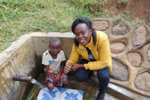 The Water Project: Musango Community, Ham Mwenje Spring -  Lucia And Lillian
