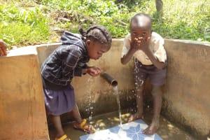The Water Project: Sharambatsa Community, Mihako Spring -  Drink Up