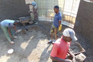 The Water Project: Kitumba Primary School -  Tank Construction