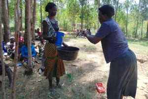 The Water Project: Musango Community, Emufutu Spring -  Handwashing Training