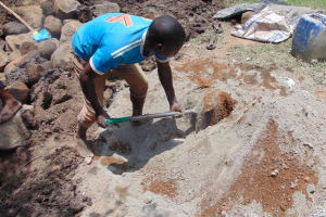 The Water Project: Eshiasuli Community, Eshiasuli Spring -  Cement Mix