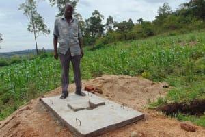 The Water Project: Eshiasuli Community, Eshiasuli Spring -  Sanitation Platform Recipient
