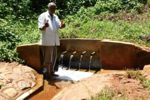 The Water Project: Shilakaya Community, Shanamwevo Spring -  Thumbs Up From John