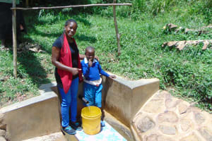 The Water Project: Ivulugulu Community, Ishangwela Spring -  Christine And Lewi