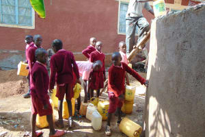 The Water Project: Kitumba Primary School -  Students Help Out