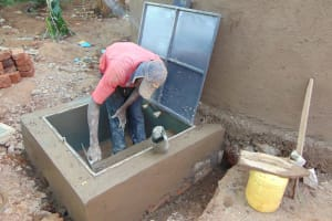 The Water Project: Kitumba Primary School -  Hatch Cemented In