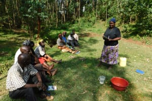 The Water Project: Wajumba Community, Wajumba Spring -  Presenting The Group Discussion