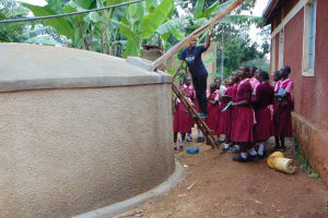 The Water Project: Kitumba Primary School -  Learning About Gutters