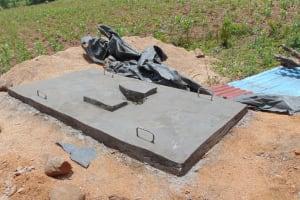 The Water Project: Eshiasuli Community, Eshiasuli Spring -  Sanitation Platform