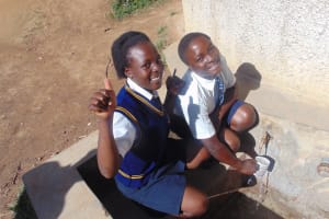 The Water Project: Eshisiru Secondary School -  Jocelyn On Left With Other Student