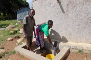 The Water Project: Lihanda Secondary School -  School Staff Fetches Water