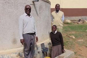 The Water Project: Lihanda Secondary School -  Deputy Principal Principal And Student Pauline