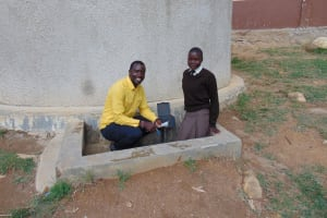 The Water Project: Lihanda Secondary School -  Field Officer Erick Interviews Student Pauline