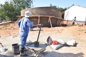 The Water Project: Kikuswi Secondary School -  Artisan On Job Site